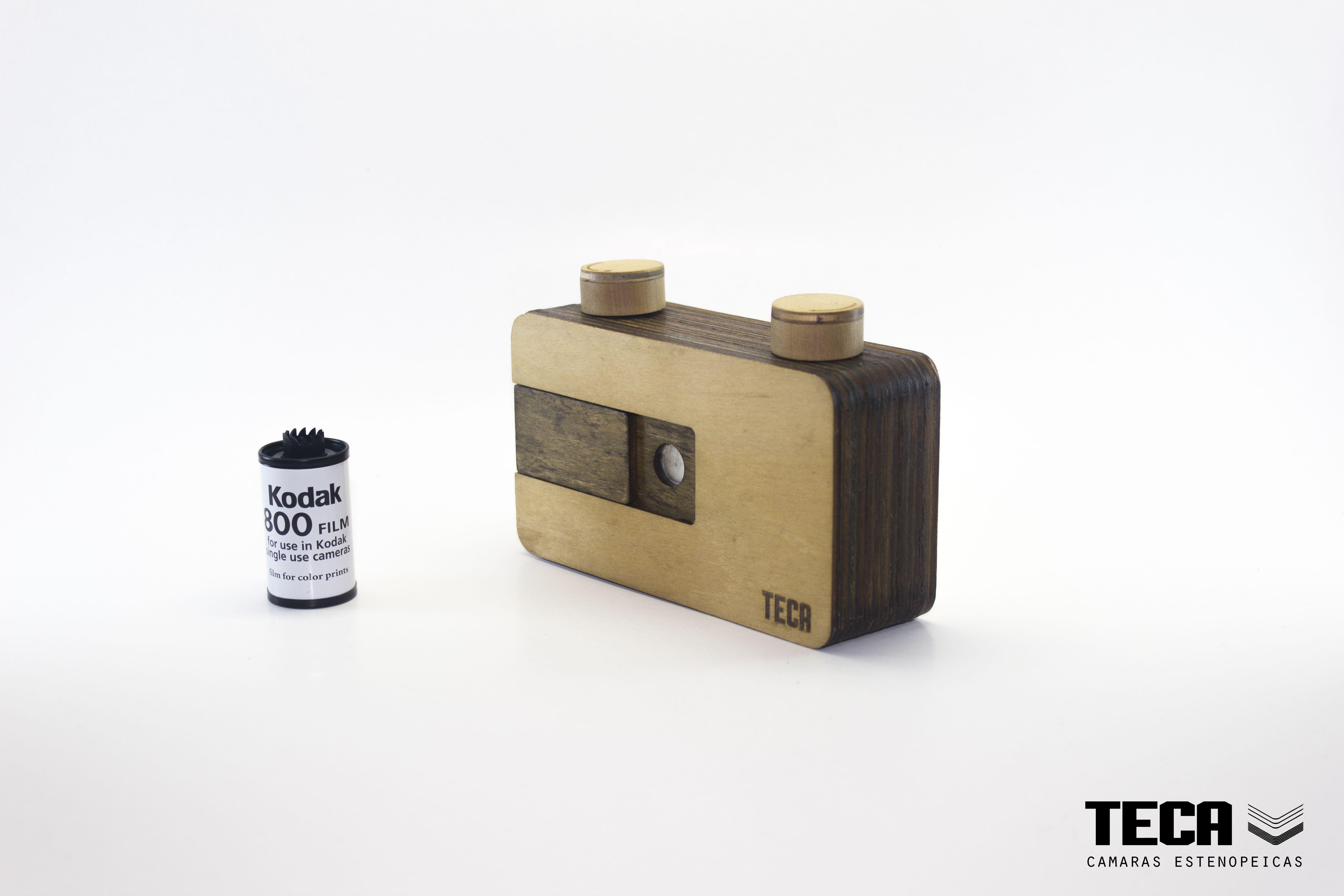 Teca Pinhole Camera 35mm Wooden Camara Estenopeica De Madera 35mm