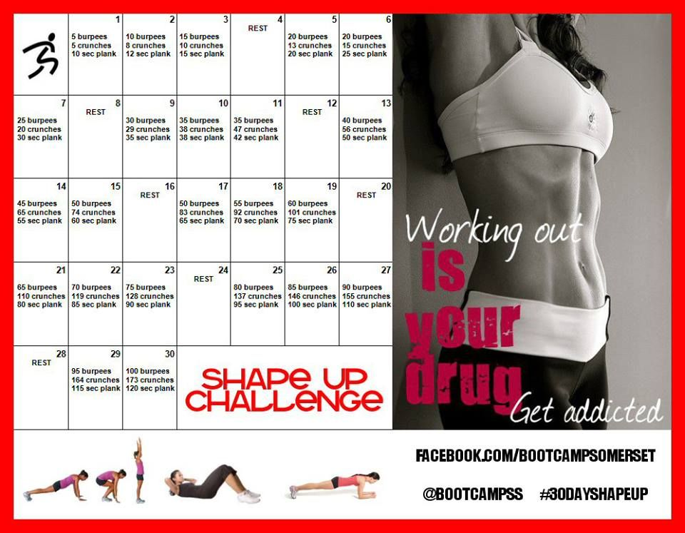 My New  Day Shape Up Challenge Working Your Fitness And A Full