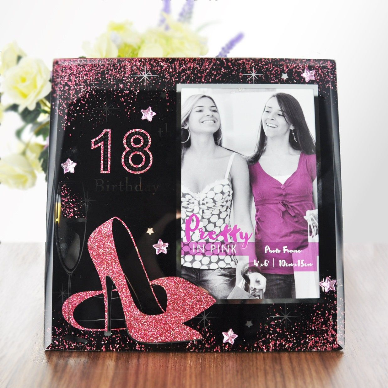 18th Birthday 4 X 6 Pink Glass Photo Frame Gifts A1Gifts
