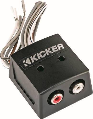 Kicker Speaker Wire To Rca Converter Black 46kisloc Best Buy Speaker Cable Speaker Wire Car Amplifier