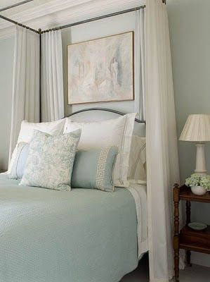 Ruth Burts Interiors Soothing Paint Colors For The Bedroom Sherwin Williams Topsail Sw6217 Above