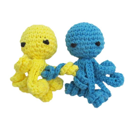 Squeaky Octopus Tiny Dog Toy With Long Squiggly Legs Choose Your