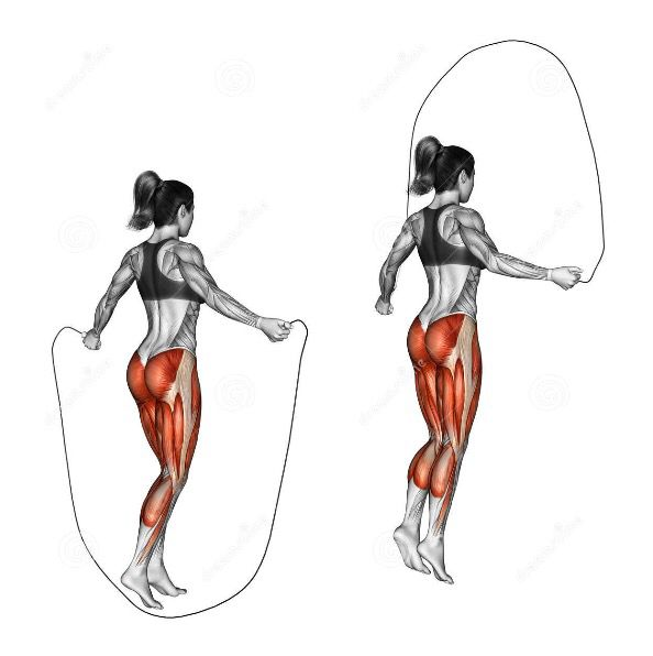 This Is Why I Jump Rope Look At The Muscle Group You Re Working Out 2 Min Rest Between Sets 100skips X 3sets For B Jump Rope Workout Jump Rope Exercise