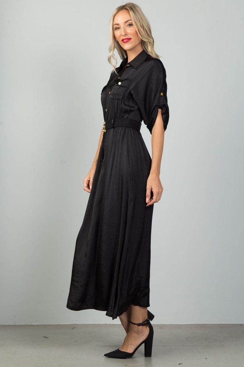 Button down belted maxi dress dresses pinterest dresses