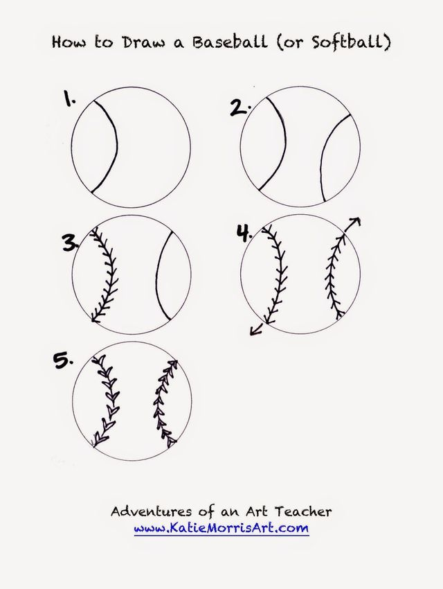 Baseball Drawing Easy : baseball, drawing, Draw-, Sports, (Adventures, Teacher), Drawings,, Handouts