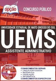 Apostila Concurso Uems 2017 Apostila Uems 2017 Assistente