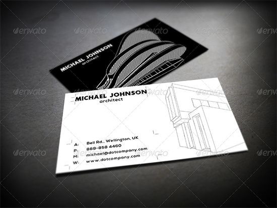 Architect Cards 25+ best business cards for architects & constructors | free