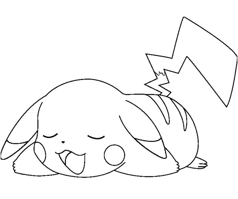 Pikachu Coloring Pages Sleeping Coloring Pages Pokemon Coloring