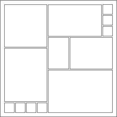 scrapbook layout - grid with 13 photos | Scrapbook ...