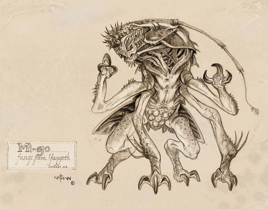 Mi-Go concept 02 by *NathanRosario on deviantART | Creature ...