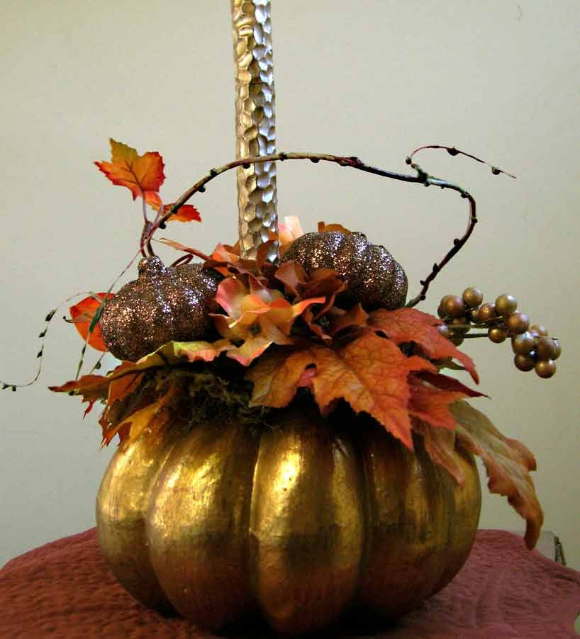 Thanksgivingfall centerpiece w/candle fall by ForestnShoreNaturals, $58.00