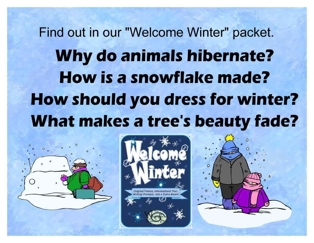 Welcome Winter Original Poems Informational Texts And A