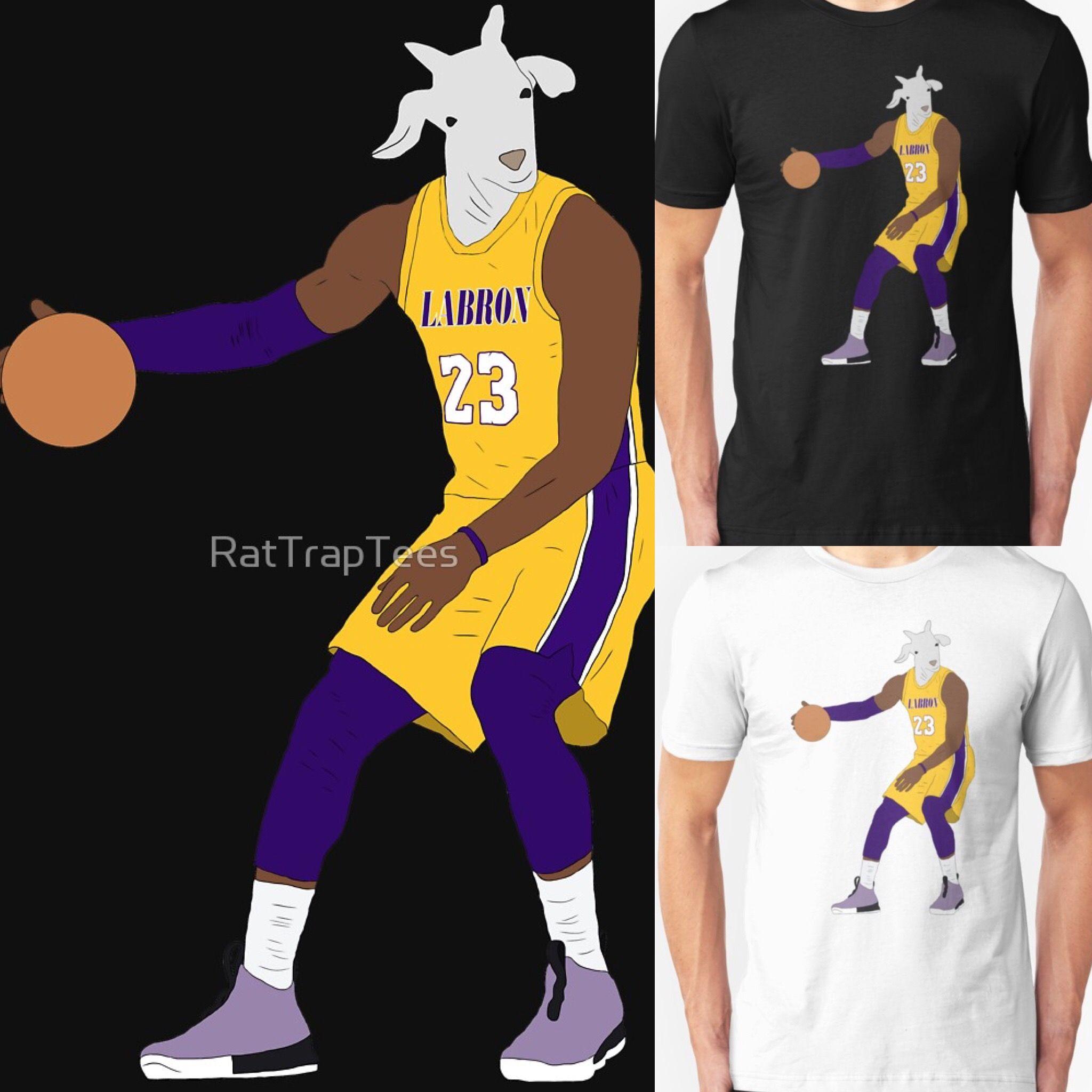 info for 392a3 7254b LeBron James, The GOAT (Lakers) | NBA T-Shirts | Lebron ...