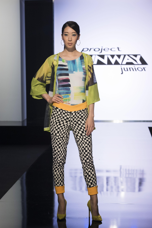 Designer Chris' look on Project Runway Junior