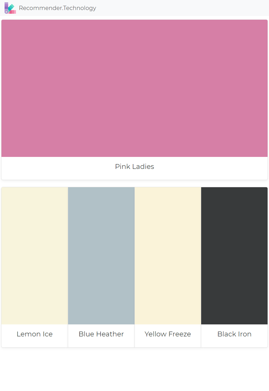 Pink Ladies: Lemon Ice, Blue Heather, Yellow Freeze, Black Iron ...