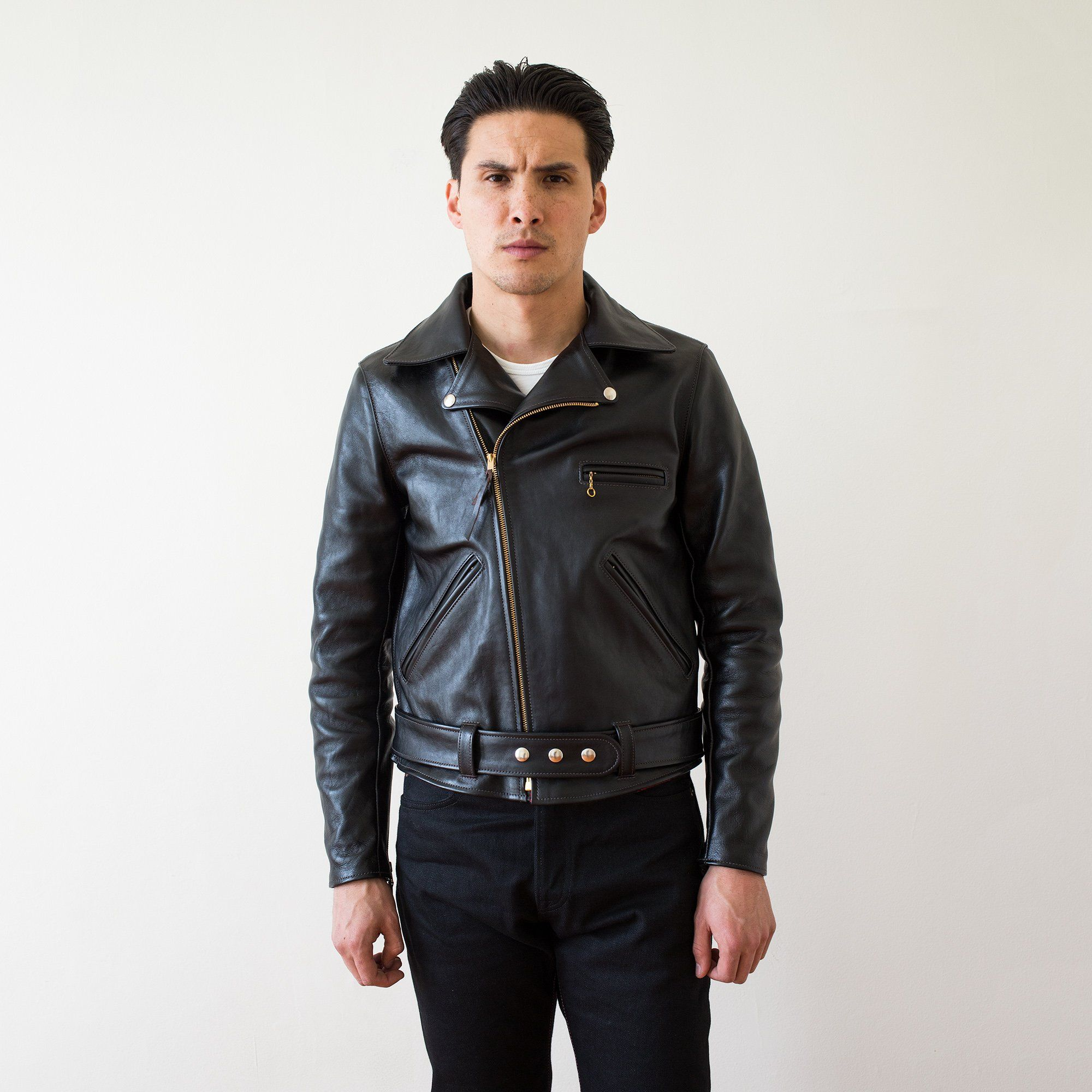 Real Mccoy S Buco Jh 1 Horsehide Leather Jacket Leather Jacket Black Jackets [ 2000 x 2000 Pixel ]