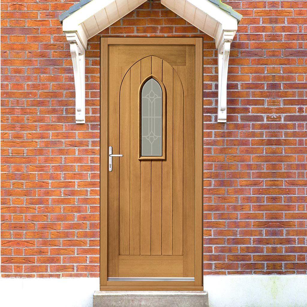 Prefinished Westminster External Oak Door Decorative Double Glazing & Prefinished Westminster External Oak Door Decorative Double Glazing ...