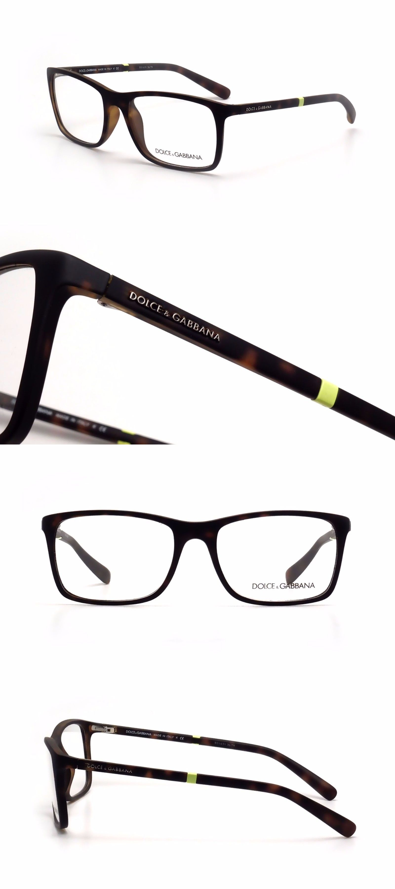 Fashion Eyewear Clear Glasses 179240: $475 Dolce Gabbana Mens Brown ...