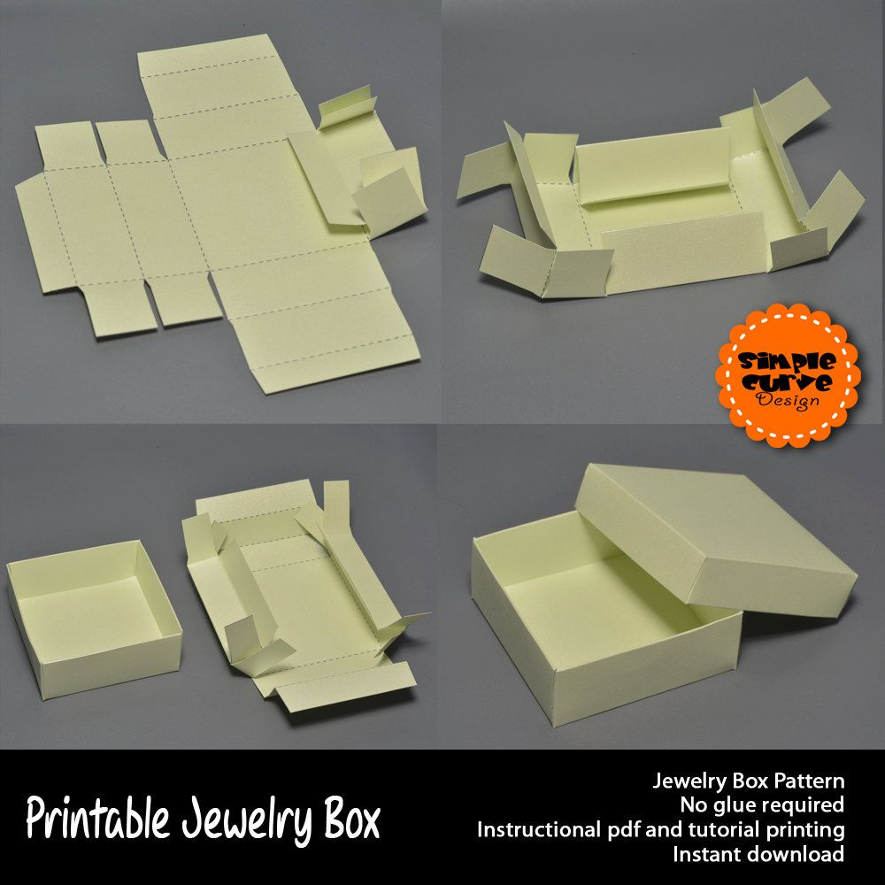 Download Jewelry Box Printable Jewelry Box Packaging Printable Box Ready To Use Box Template Paper Box A4 Diy Crafting D Gift Box Template Box Template Jewelry Box Diy