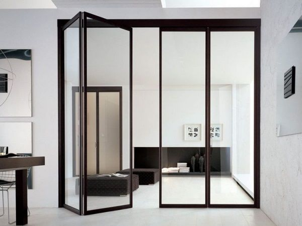 25 Folding Doors As A Space Saving Room Divider Glass Doors Interior Folding Glass Doors Doors Interior