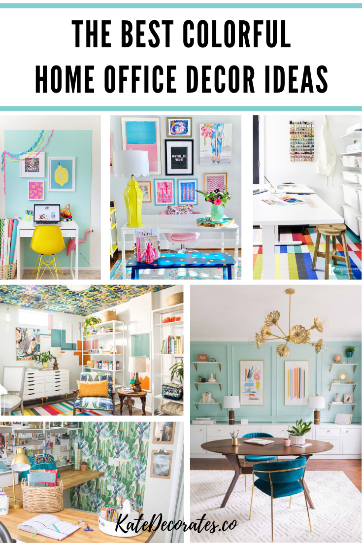 Need some fun (and budget-friendly) home office decor ideas? These colorful home office ideas will totally blow you away. Plus, there's inspiration for every kind of home office: small space home office ideas, budget home office ideas, colorful home office ideas, and so much more. #homeoffice #homeofficeideas #homeofficedecor #smallspacedecor #smallspaceliving #colorfulhome #colorfuldecor #colorfulhomedecor