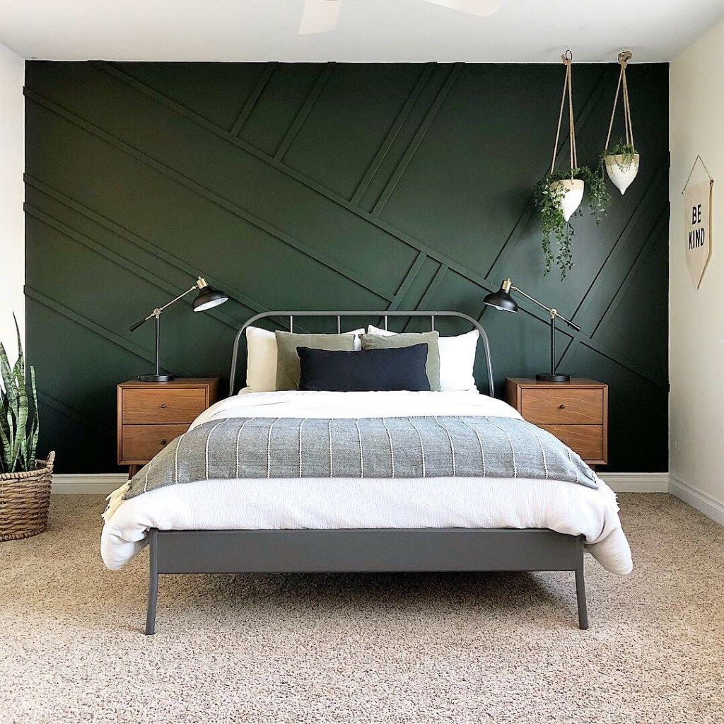 The Best Dark Green Paint Colors To Use in Your Home!  Bedroom