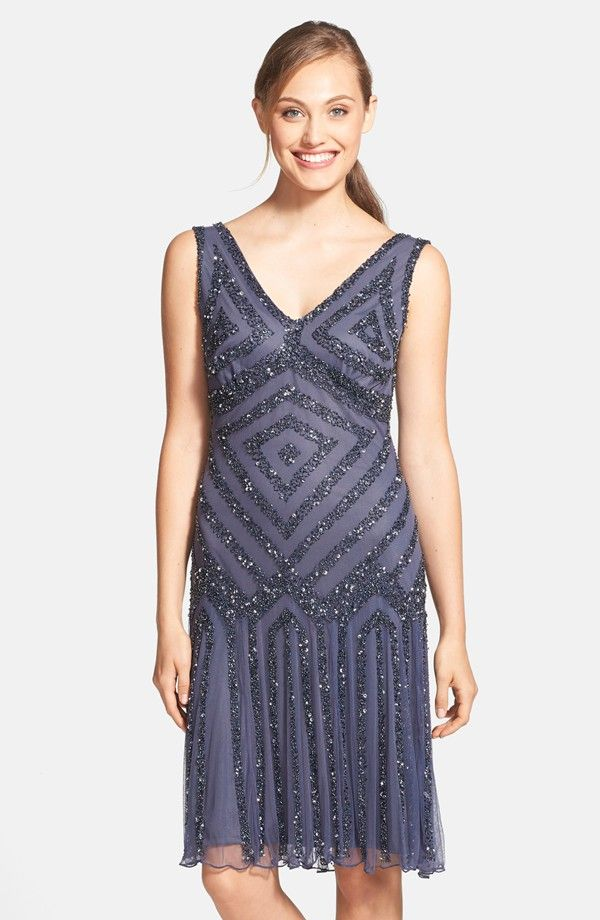 Embellished Mesh Cocktail Dress - Google Search | Gatsby Theme Party ...