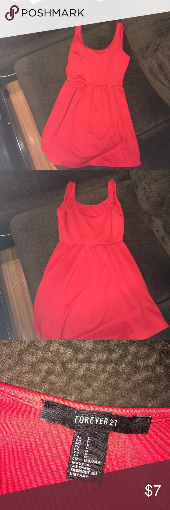 Forever 21 Dress Red forever 21 small stretchy red mini dress. Forever 21 Dresses Mini