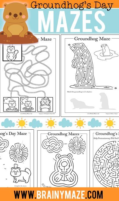 Free Groundhog's Day Worksheets, Mazes and Activity Pages! This ...