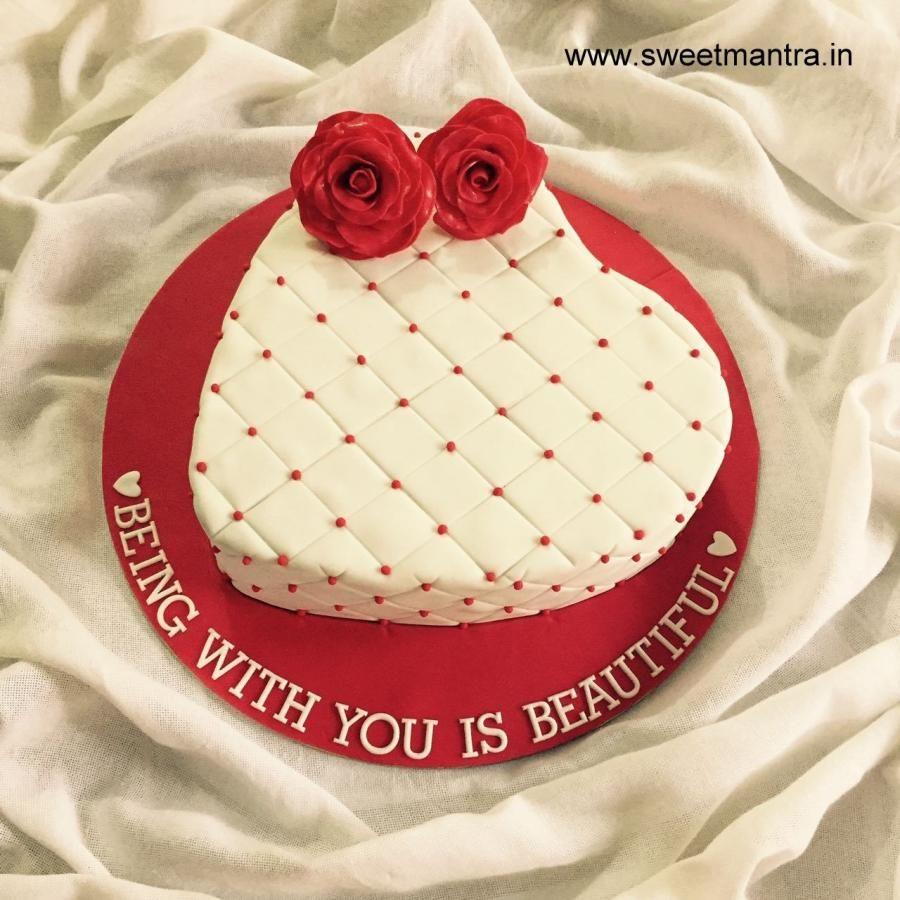 Pin By Cakesdecor Com On Wedding Cakes Heart Shaped Cakes