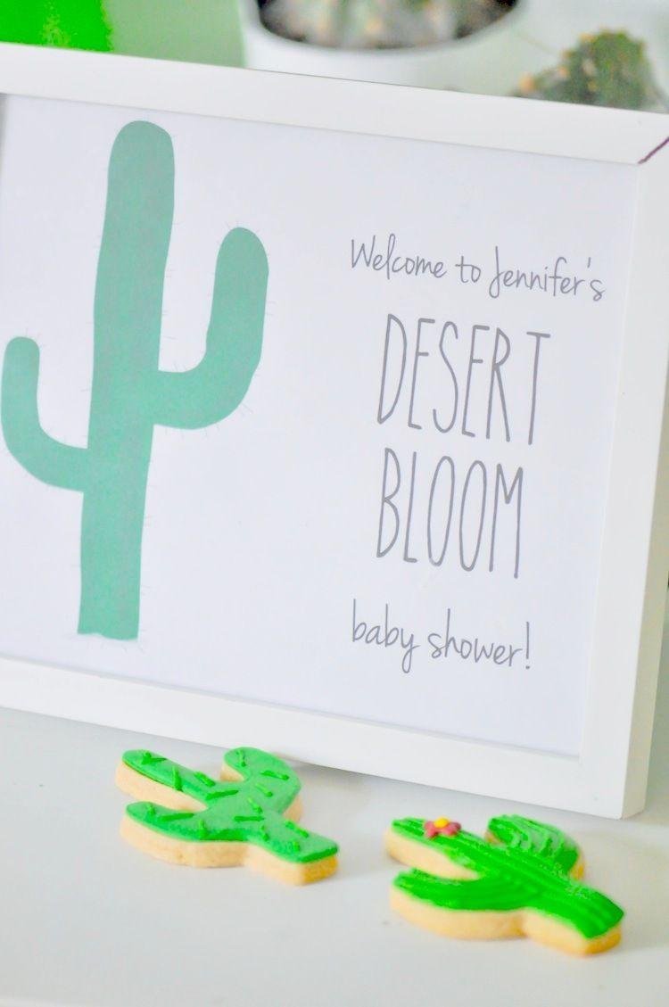 desert bloom cactusthemed baby shower  bloom baby oriental  - cactus themed desert bloom baby shower by kara allen kara's party ideas fororiental trading blog