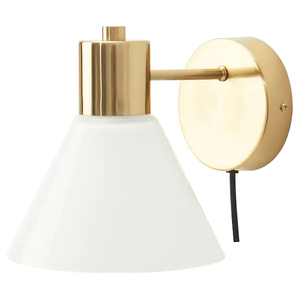 Flugbo Wall Lamp With Led Bulb Brass Color Glass In 2020 Wall