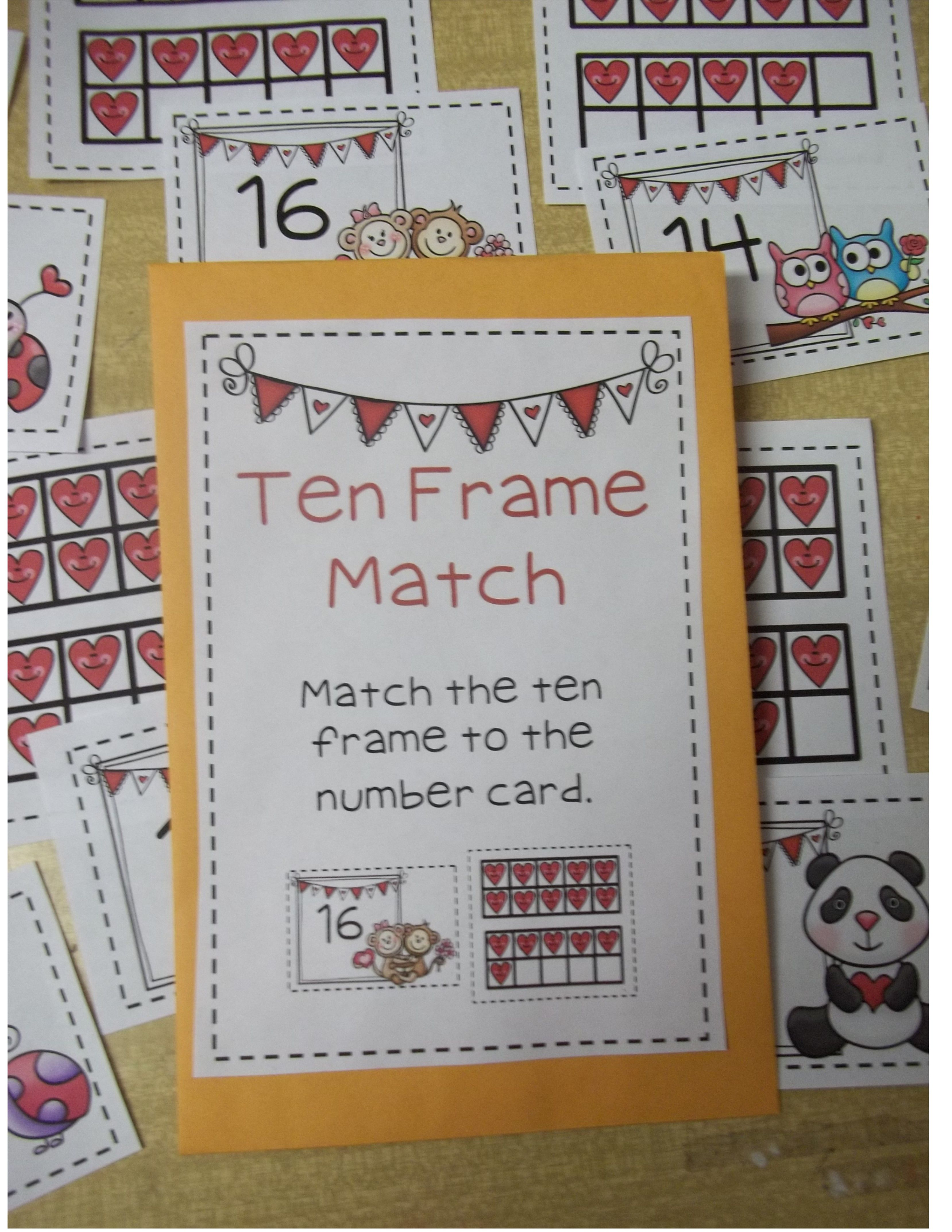Ten Frames For Valentine S K Nbt 1