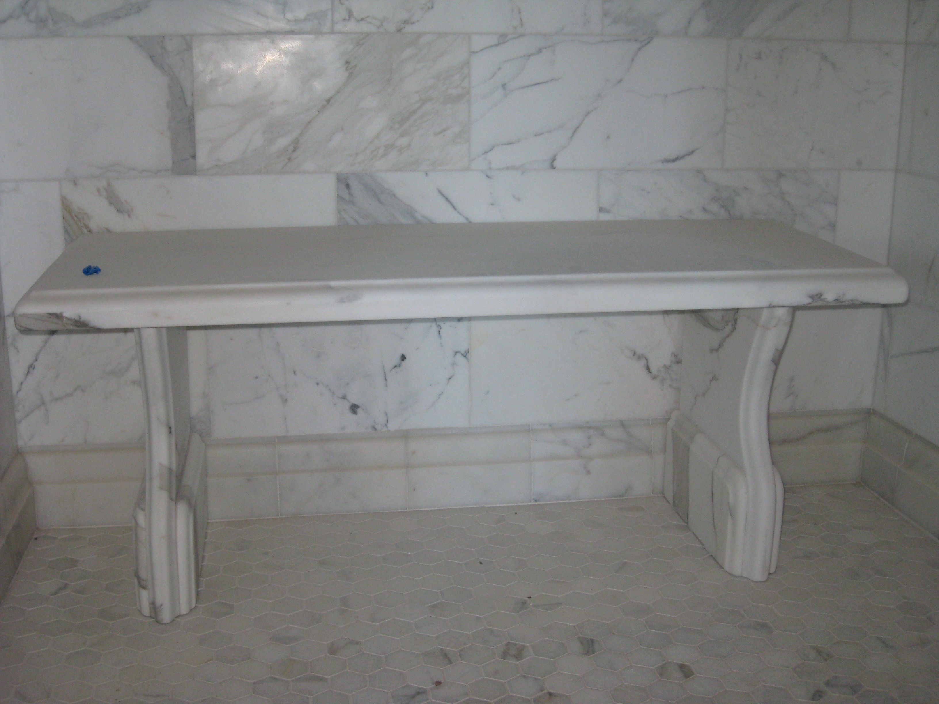 freestanding marble shower seats - Google Search | Bathrooms ...