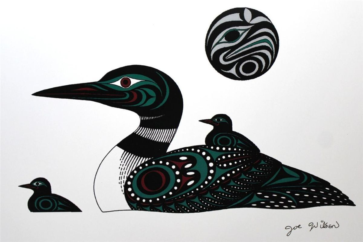 Joe Wilson - Loons --Print Northwest Coast Native Indian First ...