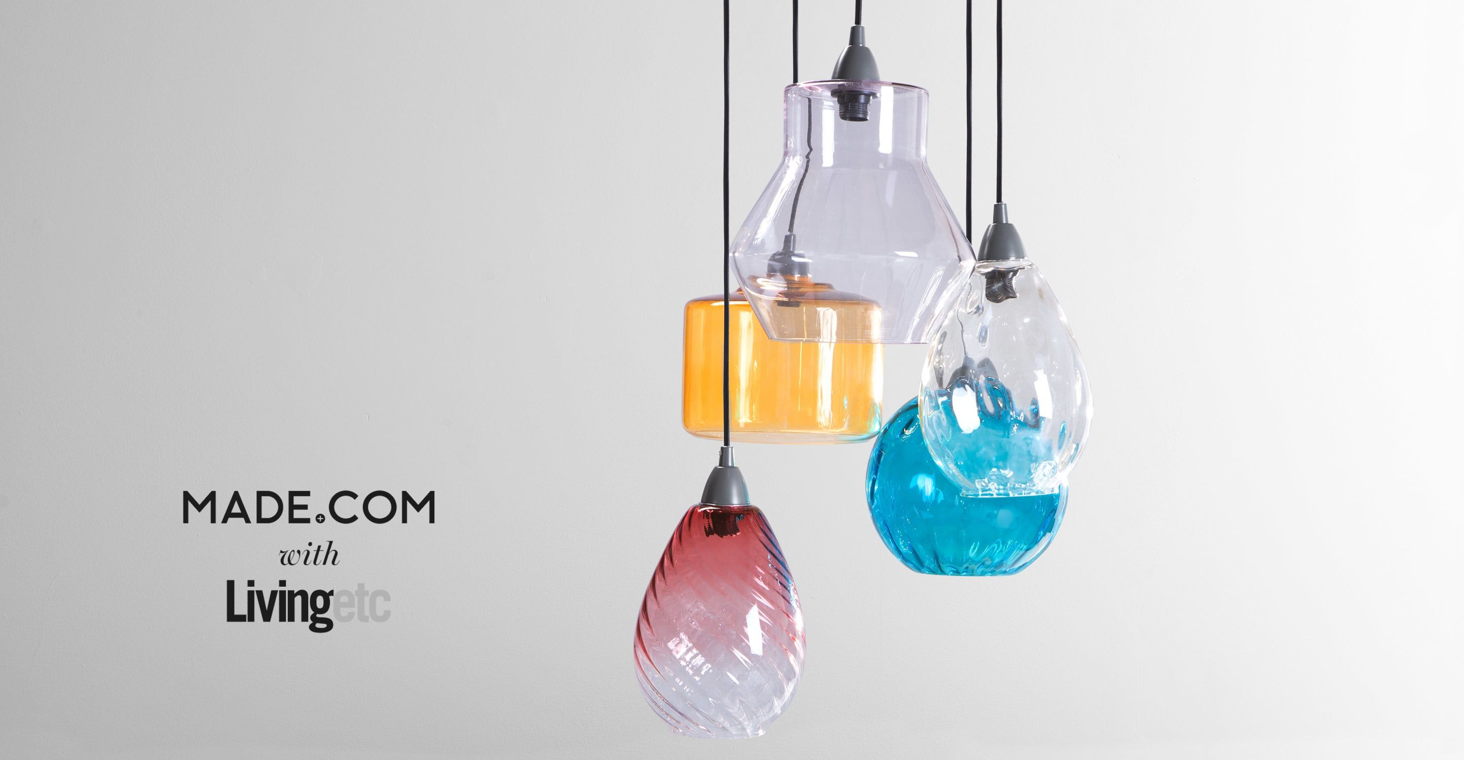 Made cluster light multi coloured express delivery glass ilaria