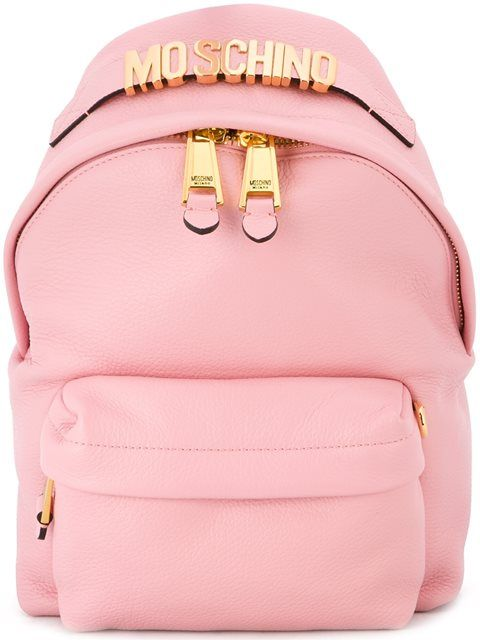 6ebd0a04fc5 MOSCHINO Logo Plaque Backpack. #moschino #bags #leather #backpacks # Pink  Bags