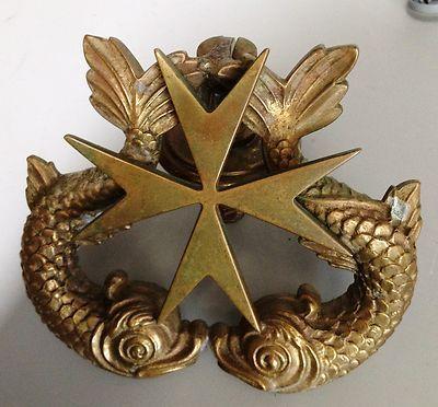 RARE 1890u0027s Solid Bronze Naval Cross Submarine Warfare Insignia Door Knocker   eBay & RARE 1890u0027s Solid Bronze Naval Cross Submarine Warfare Insignia Door ...