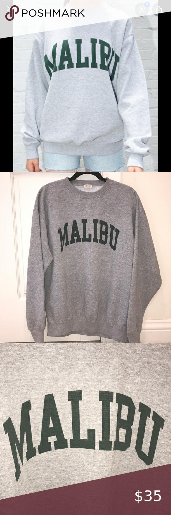 Brandy Melville Malibu Erica Crewneck Sweatshirt Sweatshirts Crew Neck Sweatshirt Brandy Melville [ 1740 x 580 Pixel ]