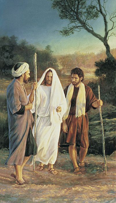 Christ on the road to Emmaus  Painting by Greg Olsen  | LDS - The