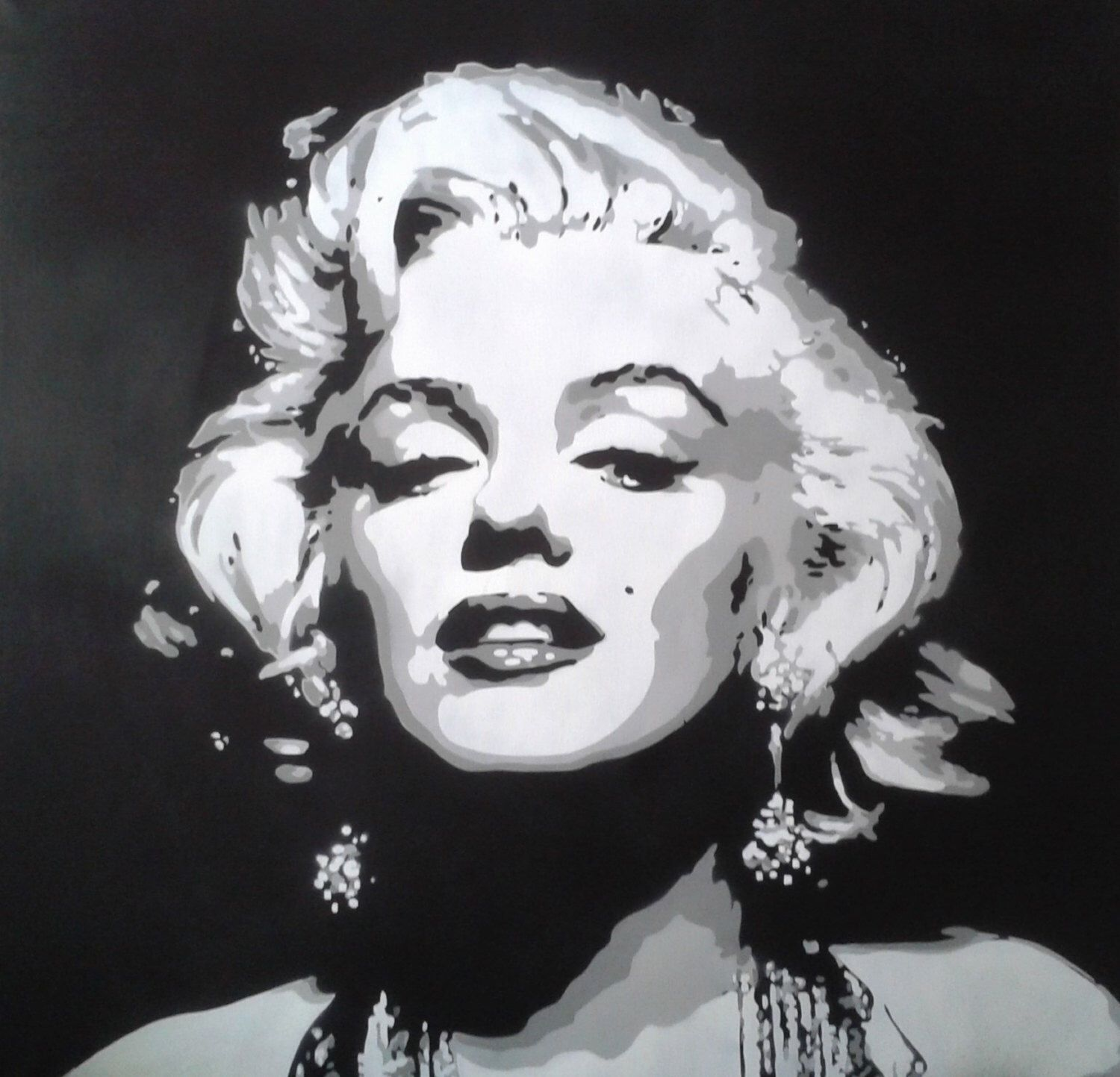 1 digital download marilyn monroe painting canvas large for Marilyn monroe tattoo canvas