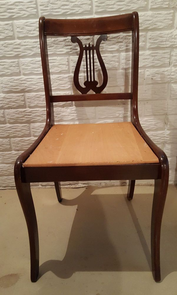 Vintage Tell City Chairs Mahogany 27 Side Chair Lyre Harp Back Ebay