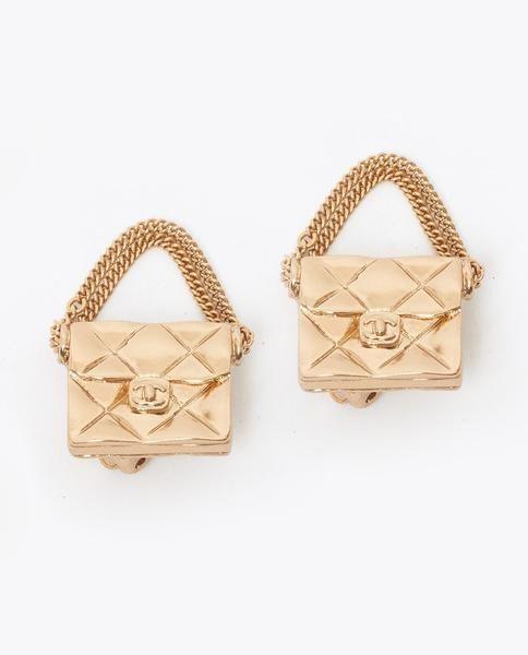 df638db8a5c3 Vintage Chanel 2.55 classic flap earrings