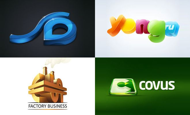 Extrem 50 Creative 3D logo Design examples for your inspiration | Logos NV76
