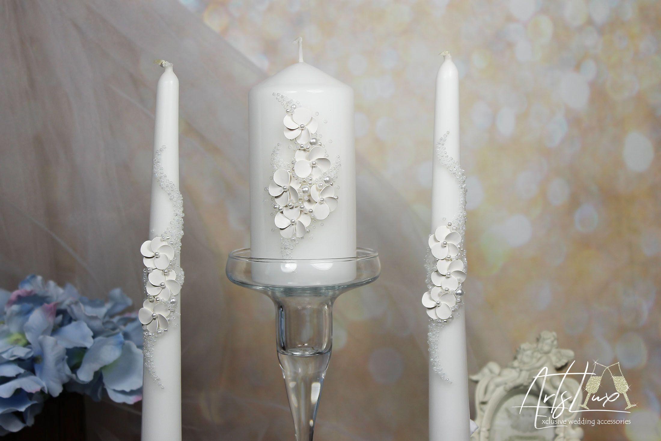 Unity candle set,Unity Candle wedding Candle set,Vintage Unity ceremony set Perfect bridal shower gift