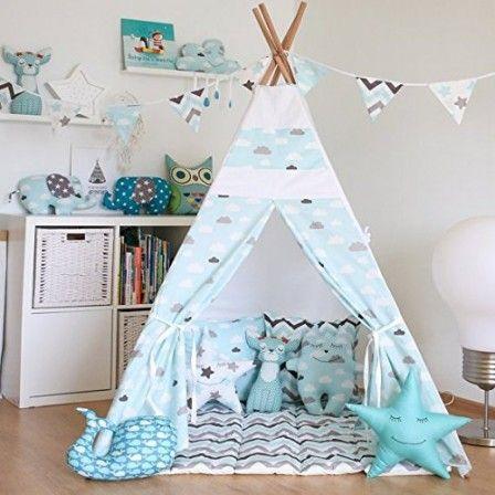 tipi deco chambre enfant avec matelas et coussins deco. Black Bedroom Furniture Sets. Home Design Ideas