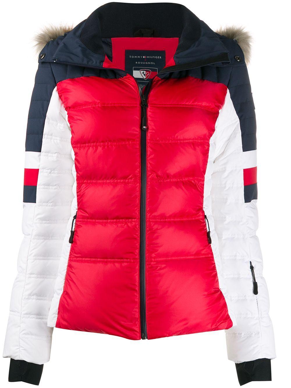 Tommy Hilfiger Colour Blocked Padded Jacket Blue In 2020 Tommy Hilfiger Jackets Padded Jacket