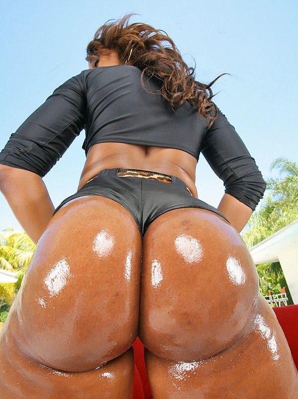 Oiled up ebony ass