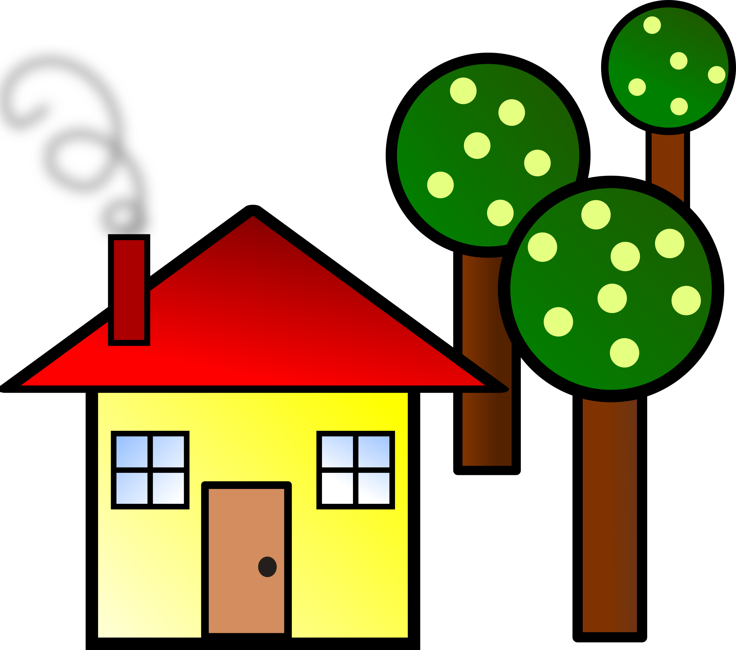 house with trees by kattekrab simple house on openclipart rh pinterest com housing clipart images housing market clipart