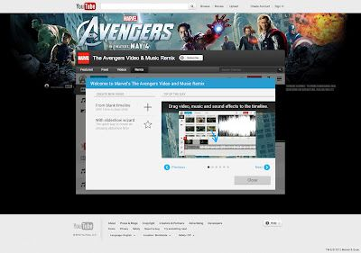 """Make Your Own """"Marvel's - The Avengers"""" Video and Music Remix Trailer on YouTube"""